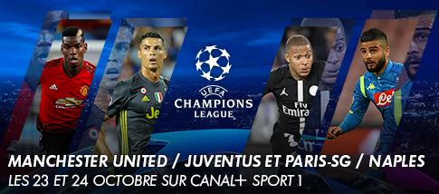 Ligue des Champions de l'UEFA - MANCHESTER UNITED / JUVENTUS   -  PARIS-SG / NAPLES